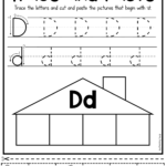 Beginning Sounds Worksheets - Trace And Paste | Beginning within Tracing Letter D Worksheets