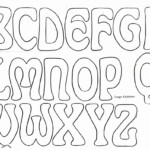 Big Bubble Letters To Trace | Don't Forget Personalizing inside Tracing Letters Font