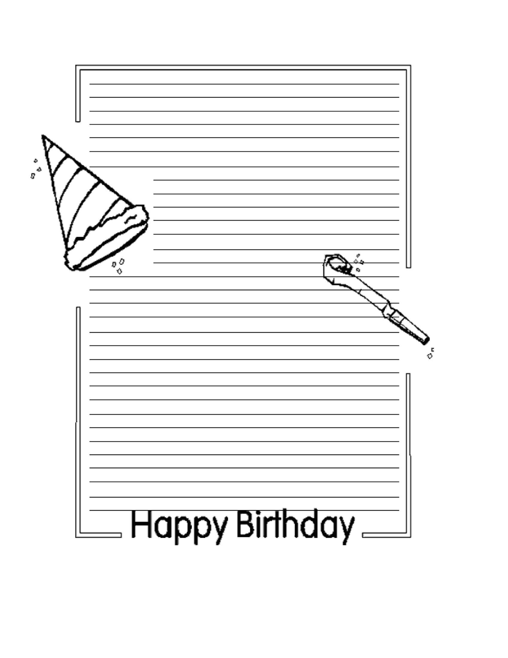 Birthday Letters To Presidents Writing Activity Tip: Masters for Happy Birthday Tracing Letters