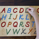 Buy A Hand Crafted Wooden Alphabet Tracing Board, Made To in Finger Tracing Letters