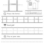 Capital Letter H | Lotty Learns | Letter I Worksheet, Letter with Tracing Letter H Worksheets