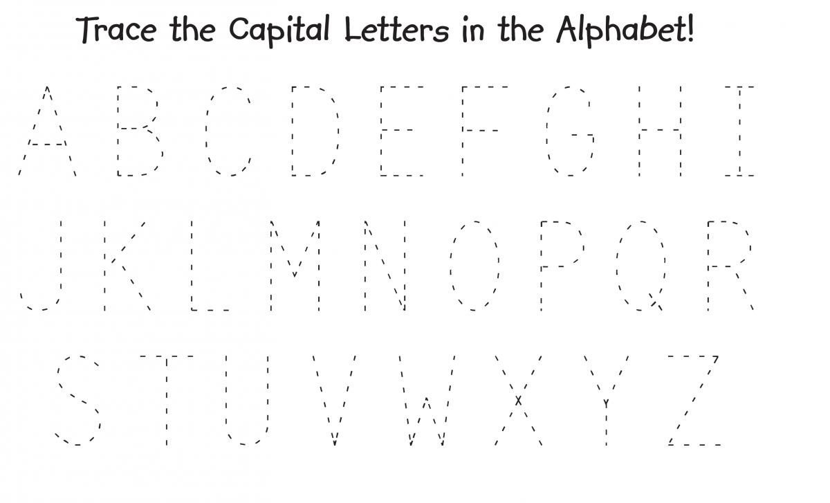 Capital Letters Alphabet – Kids Learning Activity in Tracing Capital Letters For Preschool