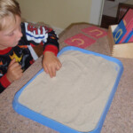 Christine's Crazy Kids: Sandpaper Letters & Sand Tracing pertaining to Tracing Letters In Sand