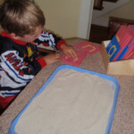 Christine's Crazy Kids: Sandpaper Letters & Sand Tracing within Tracing Letters In Sand