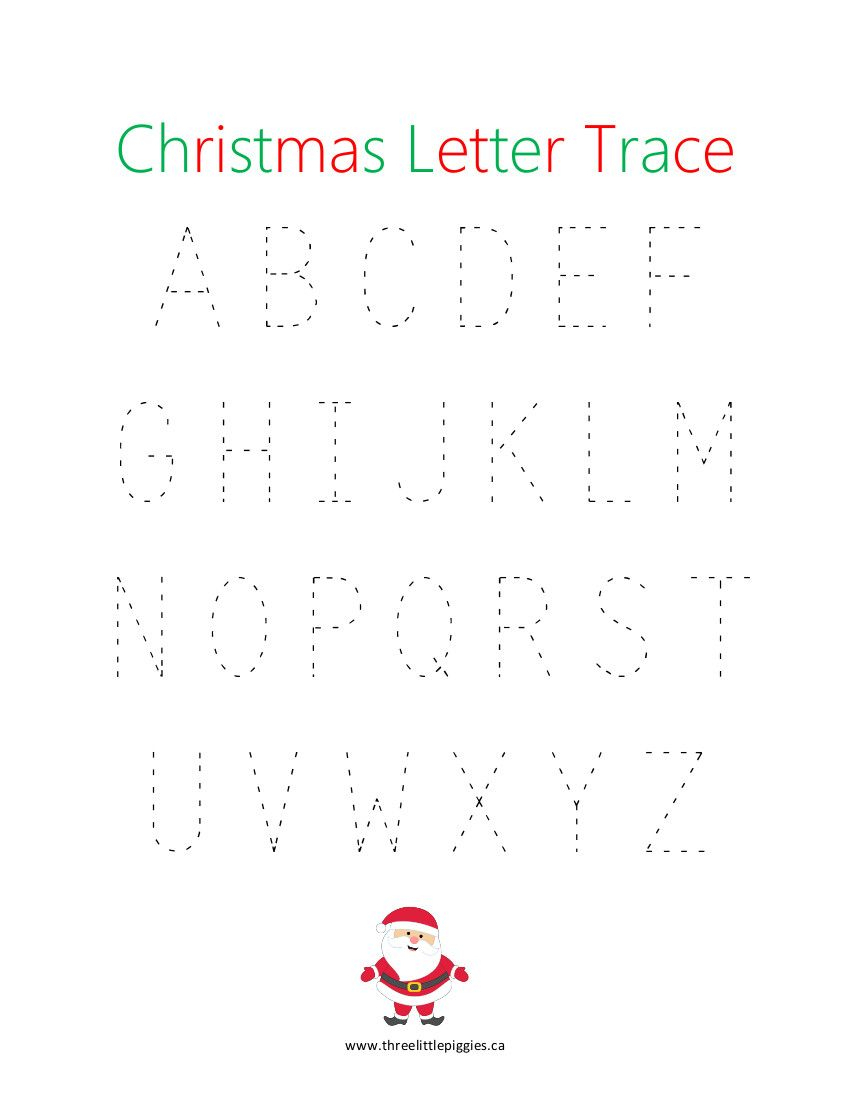 Christmas Capital Letter Trace | Tracing Letters, Christmas with Christmas Tracing Letters