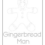 Christmas Letter Tracing - Gingerbread Man | Woo! Jr. Kids regarding Christmas Tracing Letters