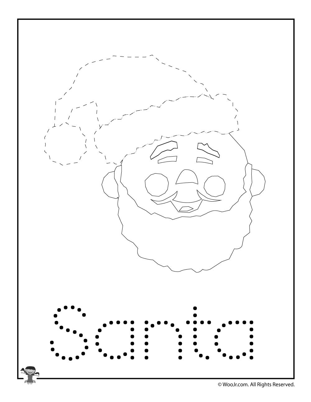Christmas Letter Tracing - Santa Claus | Woo! Jr. Kids inside Christmas Tracing Letters
