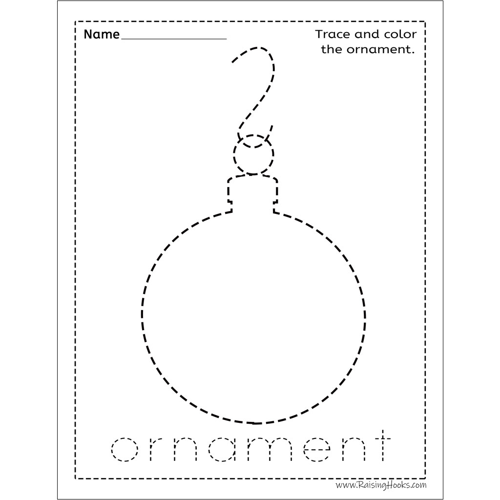 Christmas Tracing Worksheets - Raising Hooks for Christmas Tracing Letters