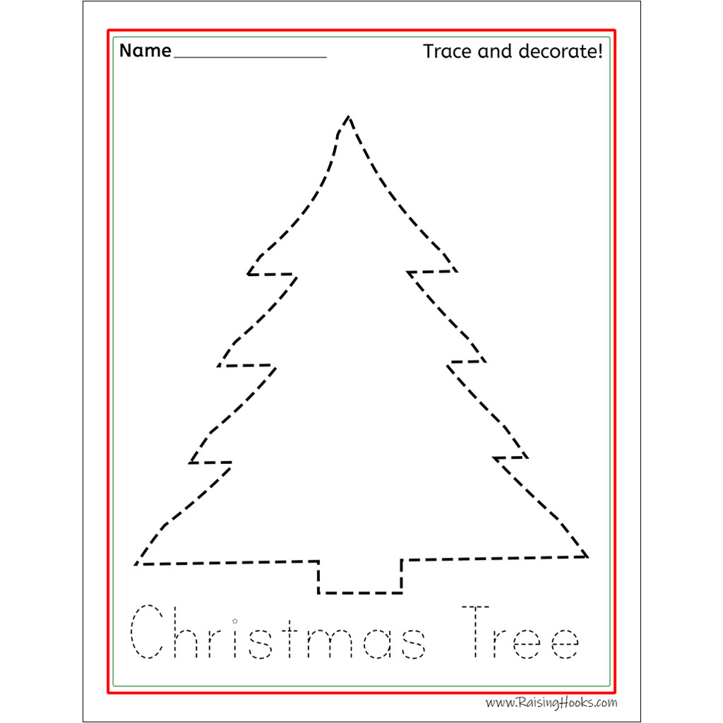 Christmas Tracing Worksheets - Raising Hooks intended for Christmas Tracing Letters