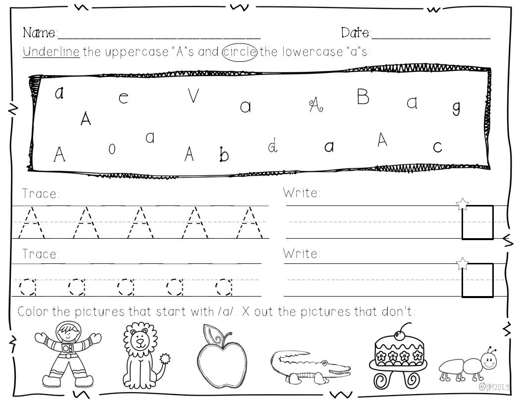 Coloring Book : Alphabete Miss Kindergarten Coloring Book with Tracing Lowercase Letters For Preschool