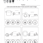 Coloring Book : Amazing Long Vowel Worksheets For with Tracing Vowel Letters Worksheet