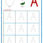 Coloring Book : Coloring Book Alphabet Tracing Worksheets regarding A Letter Tracing Worksheet