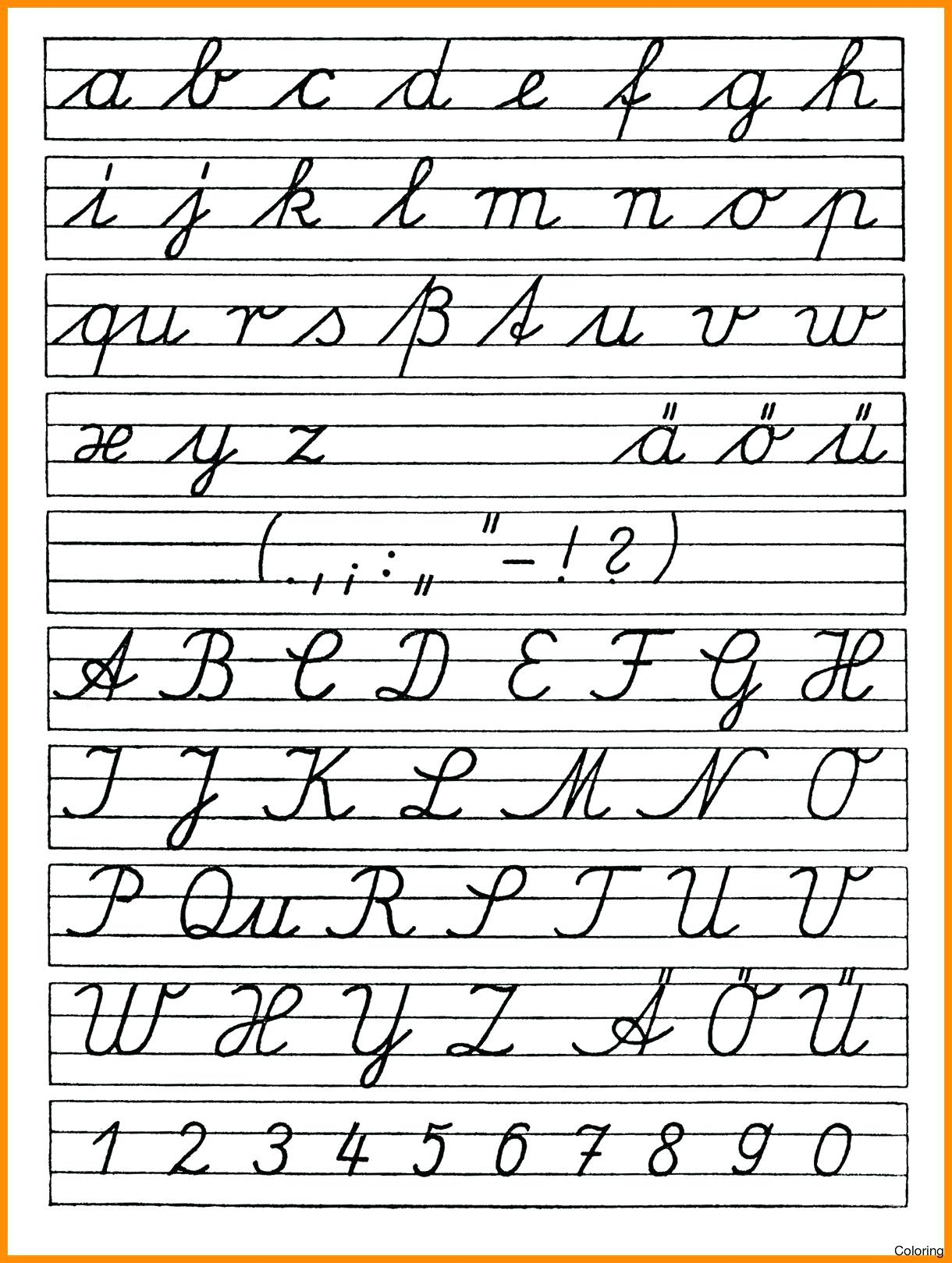 Coloring Book : Coloring Book Free Printable Cursives Chart within Tracing Cursive Alphabet Letters