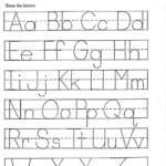 Coloring Book : Free Alphabet Letters To Print For Kids for Letter Tracing Worksheets Template