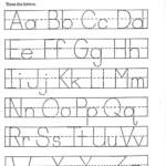 Coloring Book : Printable Alphabet Stencils Free Tracing within Free Printable Tracing Letters For Preschoolers