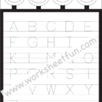 Coloring Book : Printable Letter Tracing Sheets For throughout Tracing Capital Letters Worksheets