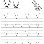 Coloring Book : Printable Letters V Free Letter Tracing regarding Dash Letters For Tracing