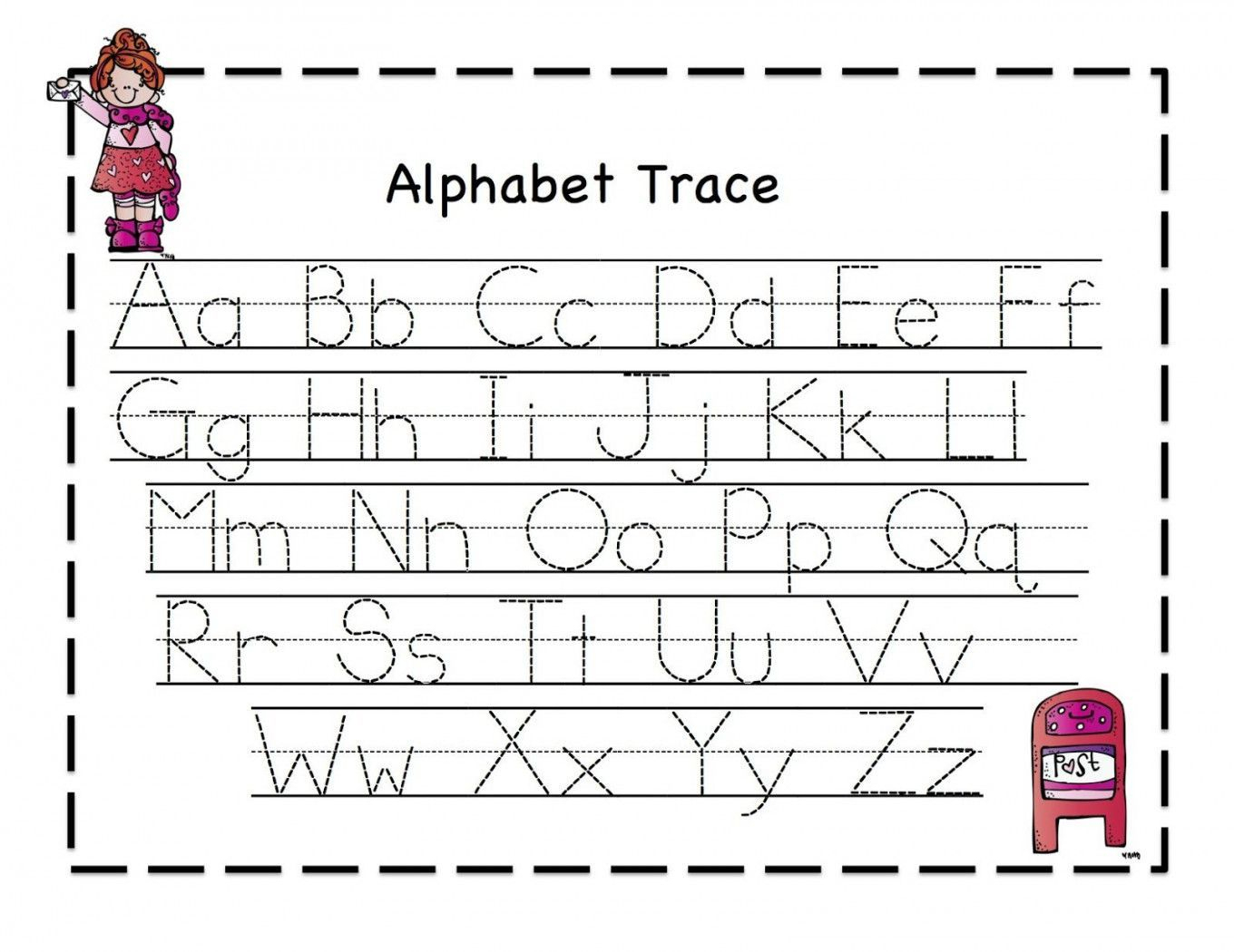 Coloring Book : Staggering Alphabet Tracing Worksheets with regard to Tracing Letters For Kindergarten Pdf