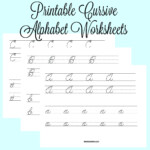 Cursive Alphabet Tracing – Pointeuniform.club with Abcs Tracing Cursive Letters