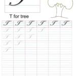 Cursive Captial Letter T Worksheet | Cursive Letters regarding Cursive Capital Letters Tracing