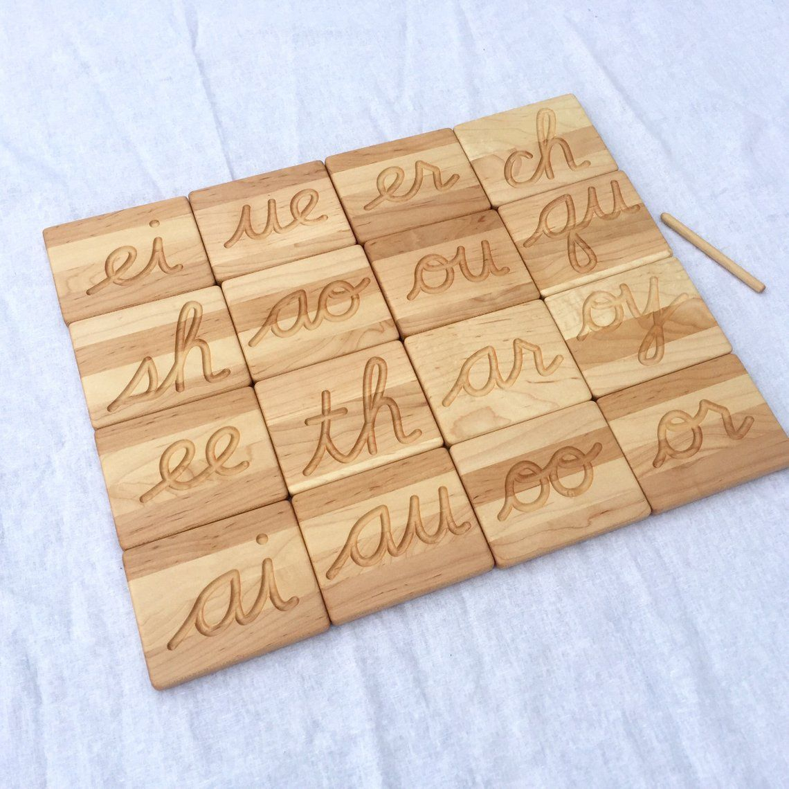 Cursive Double Letter Tracing Wooden Cards | Dremel Dreams pertaining to Wooden Tracing Letters