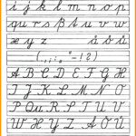 Cursive Letter Worksheet Printables Cursive Alphabet intended for Practice Tracing Cursive Letters