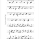 Cursive Letters Az Lowercase And Uppercase - Wpa.wpart.co for Tracing Cursive Letters Pdf