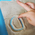 Desert Sand Writing Tray. Plus Free Printable Desert Themed with Sand Tracing Letters