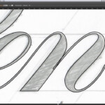 Digitally Tracing Lettering | Pies Brand in Tracing Letters In Illustrator