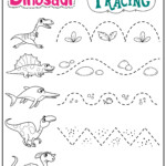 Dinosaur Letters & Number Tracing Worksheets | Teachersmag for Tracing Letters And Numbers
