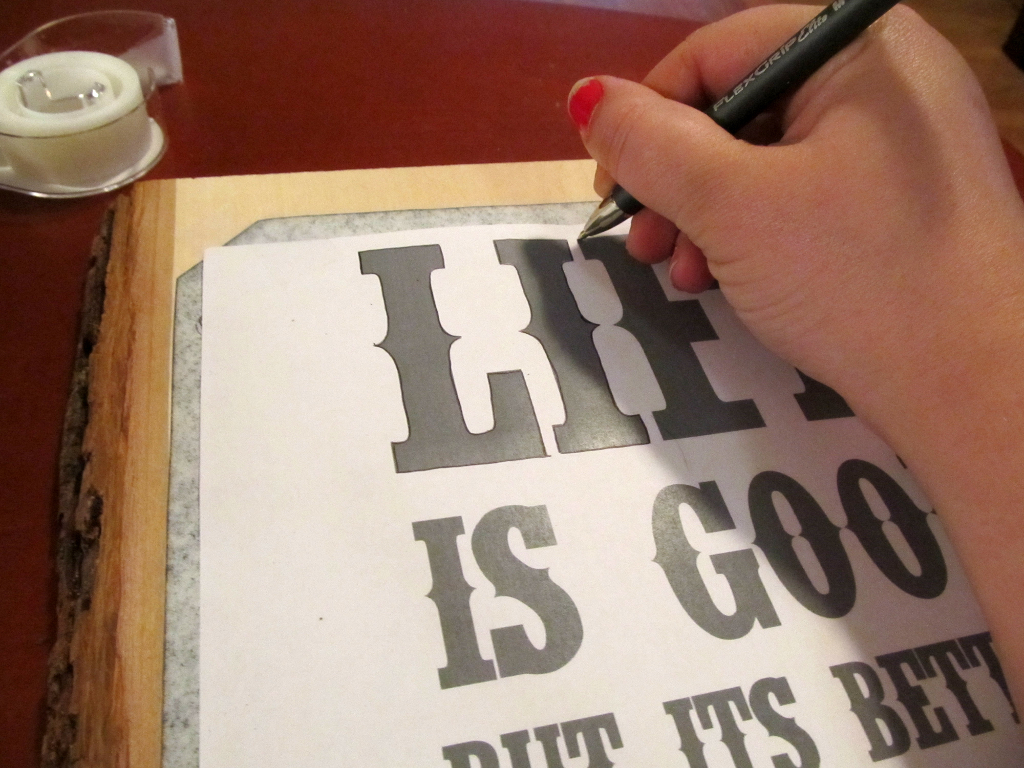 Diy: Wood-Burned Sign | Swankee Yankee regarding Tracing Letters On Wood