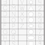 Dotted Line Letters To Trace - Trace Numbers And Shapes for Dotted Line Letters For Tracing