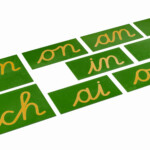 Double Sandpaper Letters: French Cursive - Nienhuis Montessori with Hollow Letters For Tracing