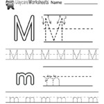 Draft Free Letter M Alphabet Learning Worksheet For for Tracing Letter M Worksheets