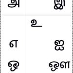 உயிர் எழுத்துக்கள் - Worksheet Keywords for Tamil Letters Tracing