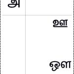 உயிர் எழுத்துக்கள் - Worksheet Keywords in Tamil Letters Tracing