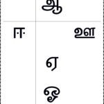 உயிர் எழுத்துக்கள் - Worksheet Keywords intended for Tamil Letters Tracing Worksheets Pdf