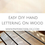 Easy Diy Lettering On Wood | Arts And Crafts | Woodworking within Tracing Letters Onto Wood