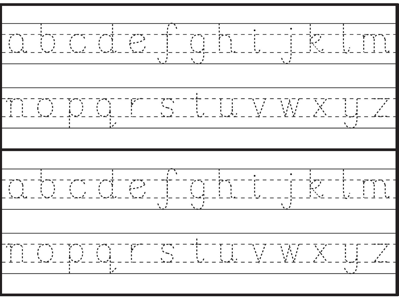 English Alphabet Worksheet For Kindergarten   Letter Tracing inside English Letters Tracing Worksheets