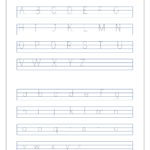 English Worksheet - Alphabet Tracing - Capital And Small for Tracing Lowercase Letters Az