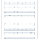 English Worksheet - Alphabet Tracing In 4 Lines - Capital inside Tracing Letters Worksheets A-Z