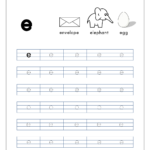 English Worksheet - Alphabet Tracing - Small Letter E in E Letter Tracing Worksheet