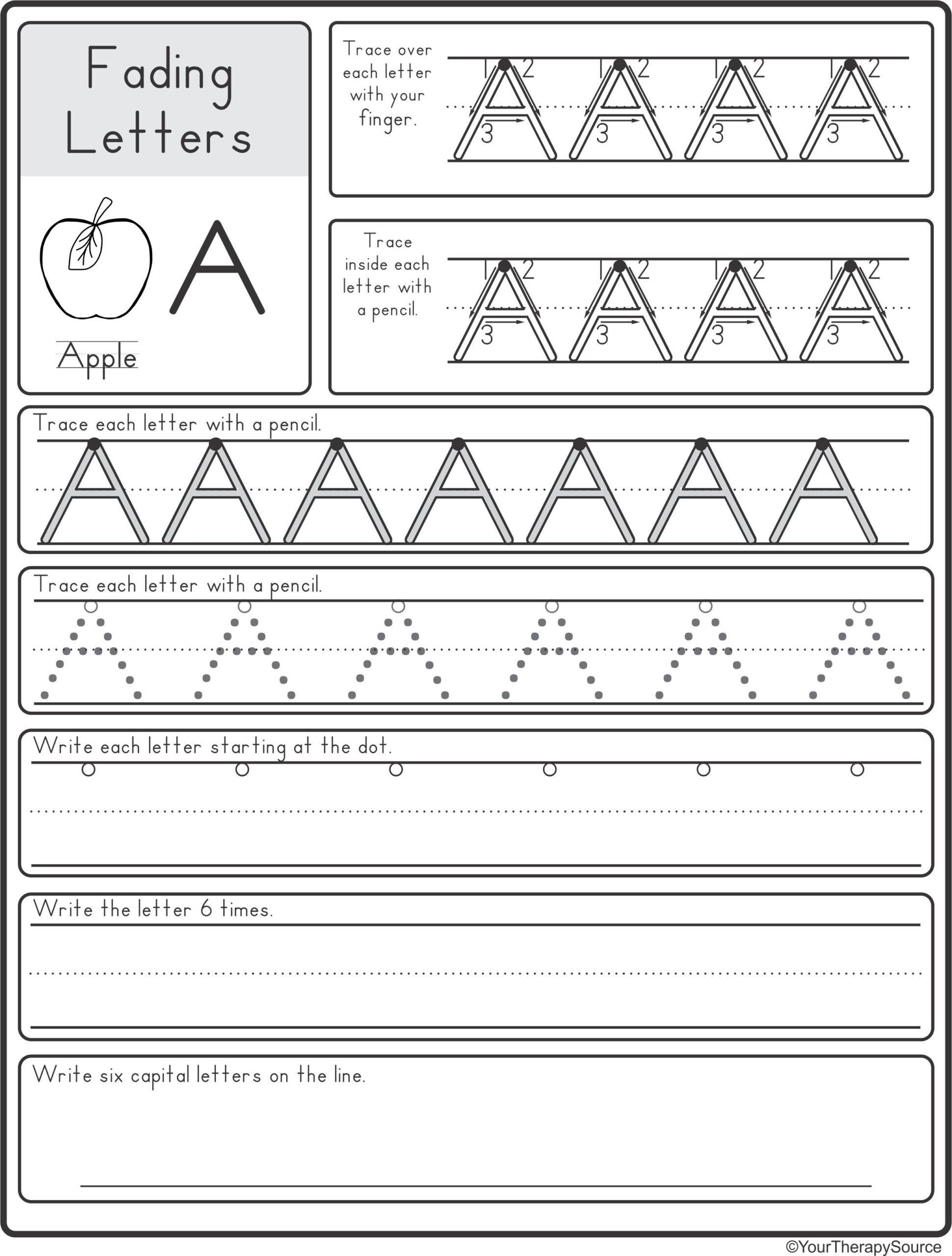 Fading Alphabet Double Line Or Dotted Line Style | Learn with Tracing Dotted Letters Worksheets