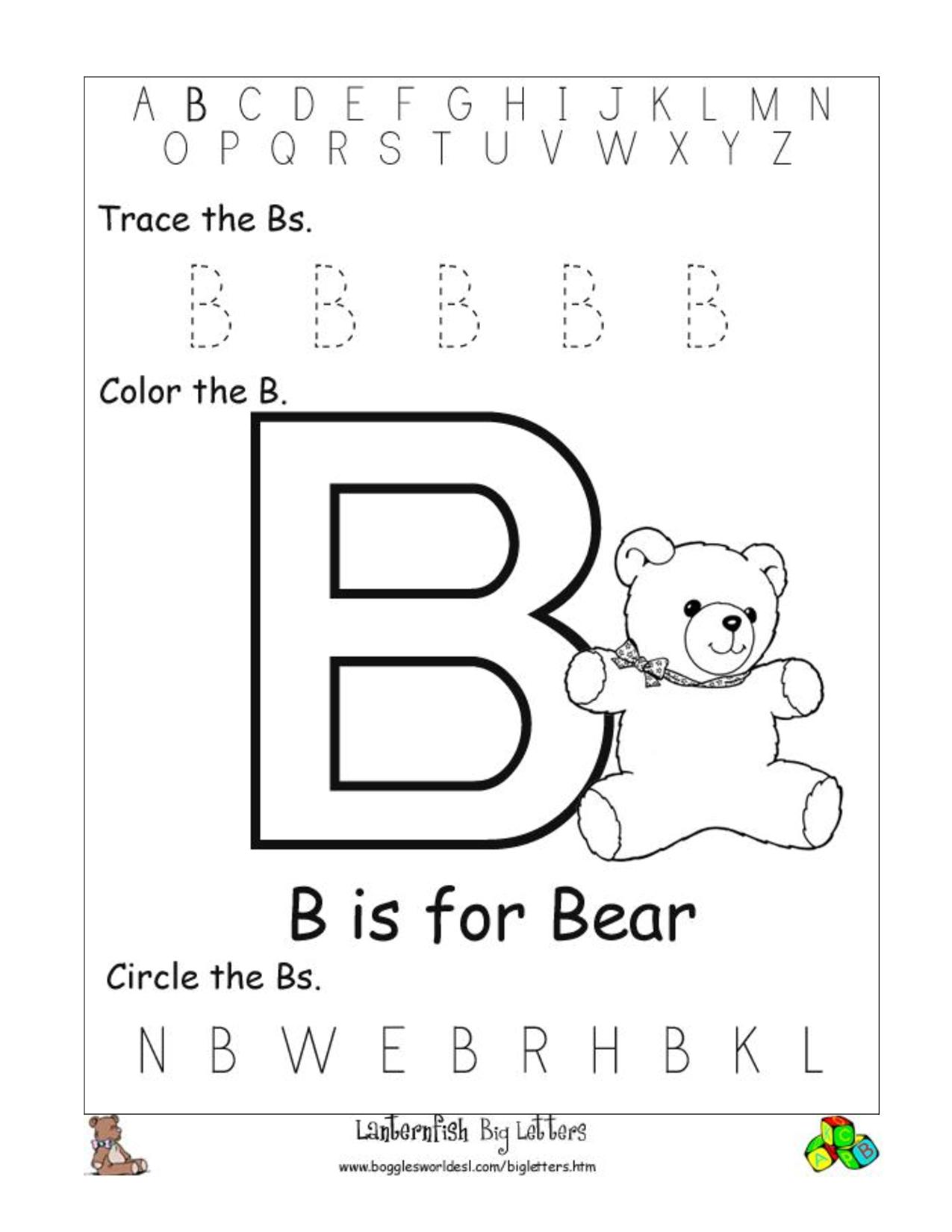 Find It. | Alphabet Tracing Worksheets, Letter B Worksheets with regard to Letter Tracing Worksheets Doc