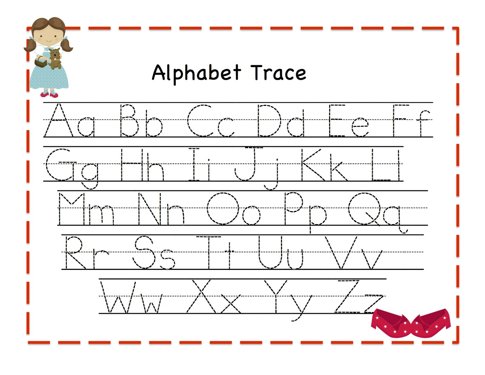 Free Printable Tracing Alphabet Letters Az ...