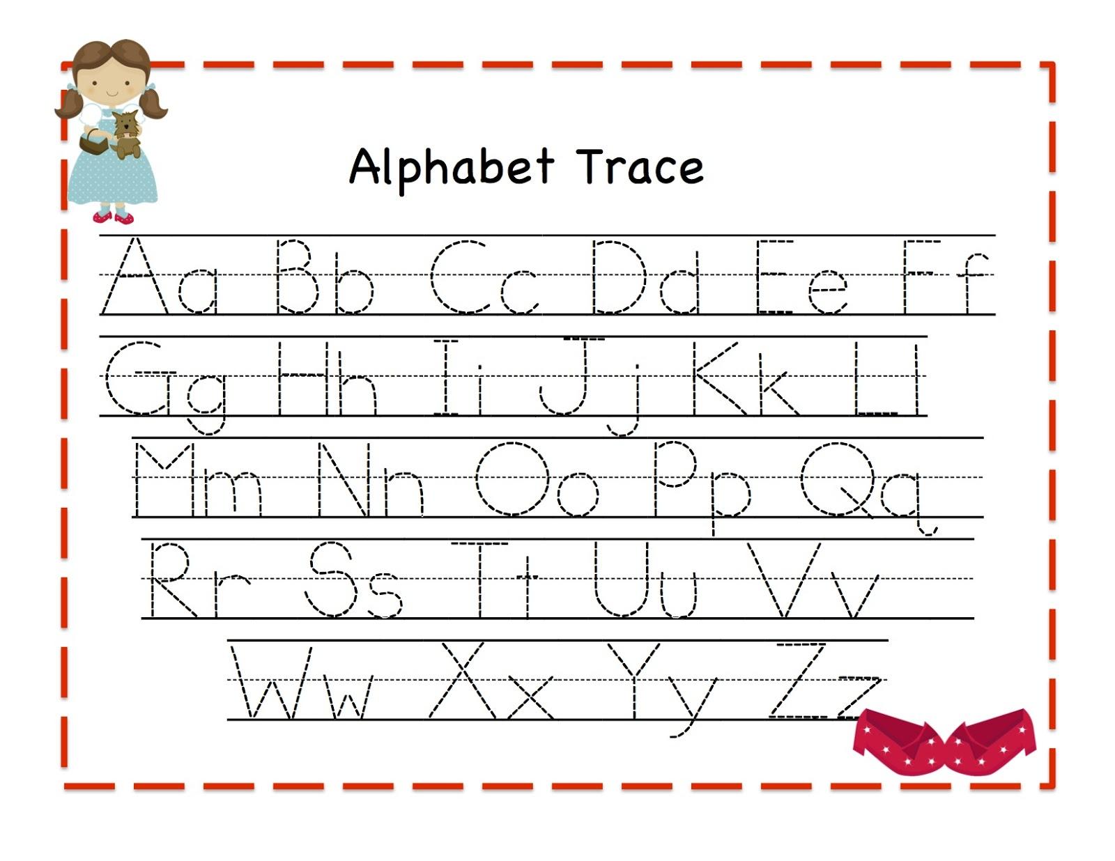 Free Alphabet Tracing Templates ] - Tracing Letters Template with Tracing Letters Template Free