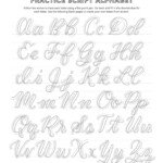 Free Calligraphy Alphabets | Calligraphy Alphabet, Faux for Printable Tracing Letters Make Your Own