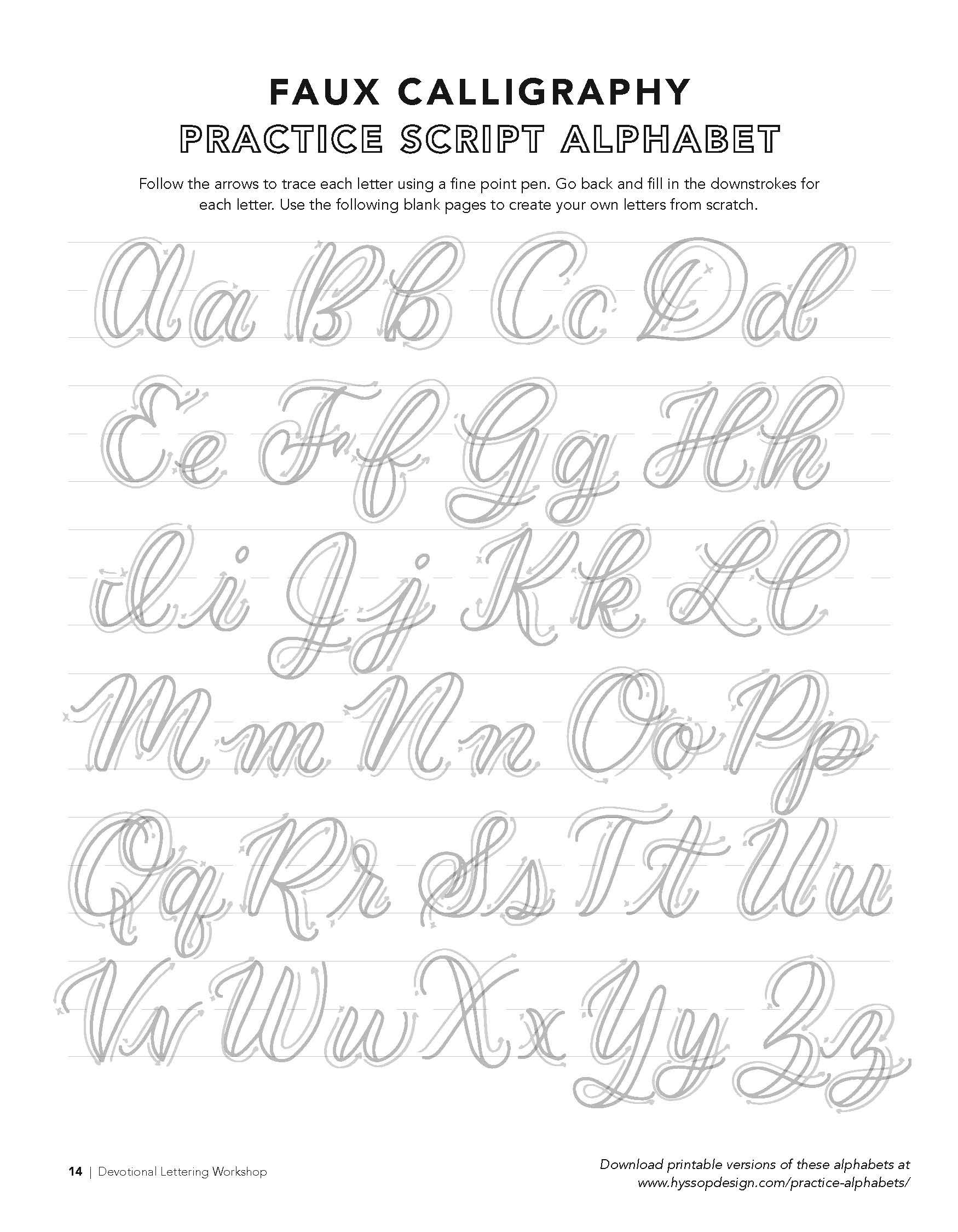 Free Calligraphy Alphabets | Calligraphy Alphabet, Faux regarding Tracing Letters Font Free