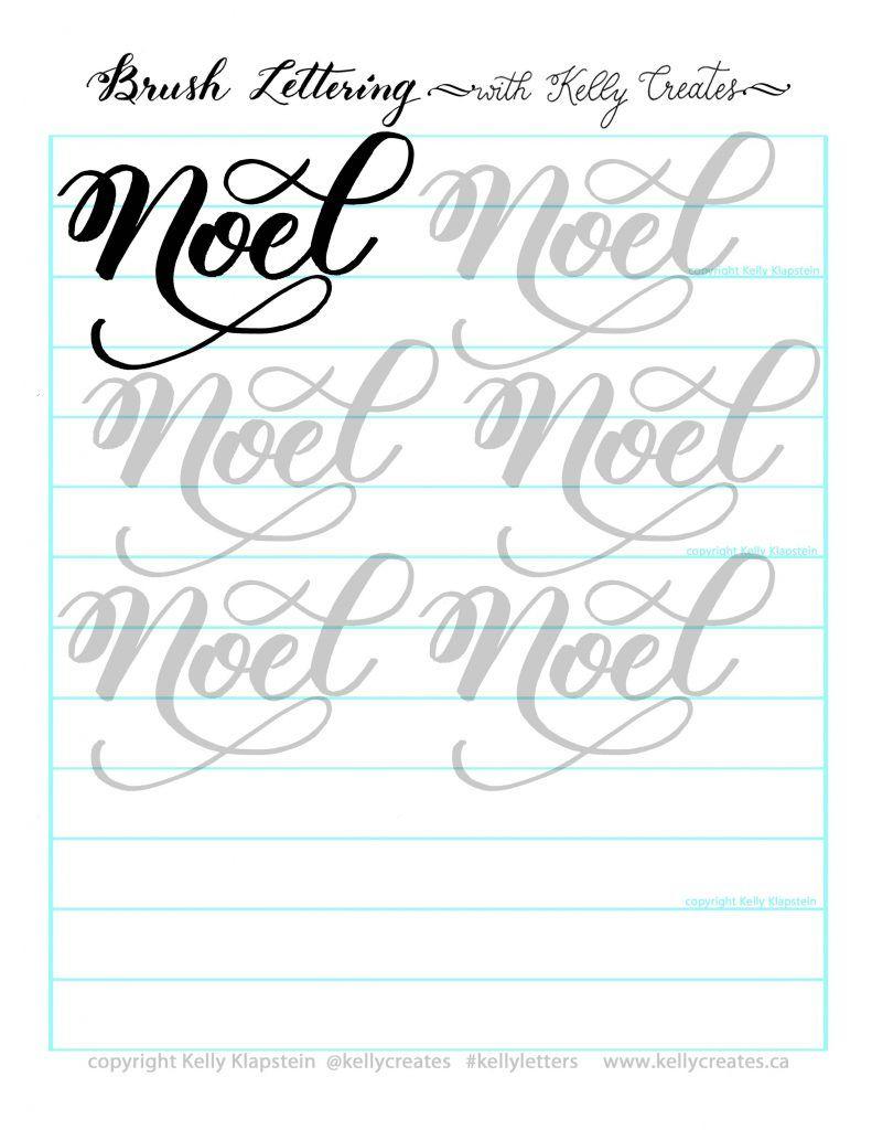 Free Christmas Printable Worksheet | Calligraphy Worksheet in Calligraphy Letters Tracing