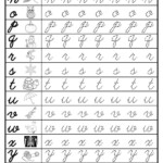 Free Cursive Lowercase Letter Tracing Worksheets | Letter within Letter Tracing Worksheets Cursive